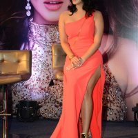 sunny leone hot in pink dress at an event