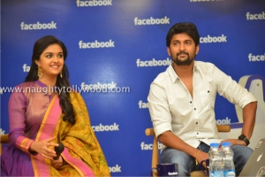 134-18keerthi-suresh-nani-at-facebook