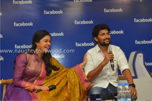 134-65keerthi-suresh-nani-at-facebook