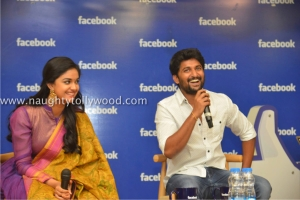 134-90keerthi-suresh-nani-at-facebook