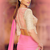 Ileana D'cruz sizzles in pink saree