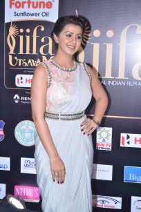 nikki galrani hot in saree at iifa awards 2017DSC_7572