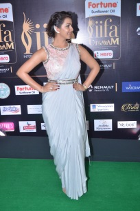 nikki galrani hot in saree at iifa awards 2017DSC_7595