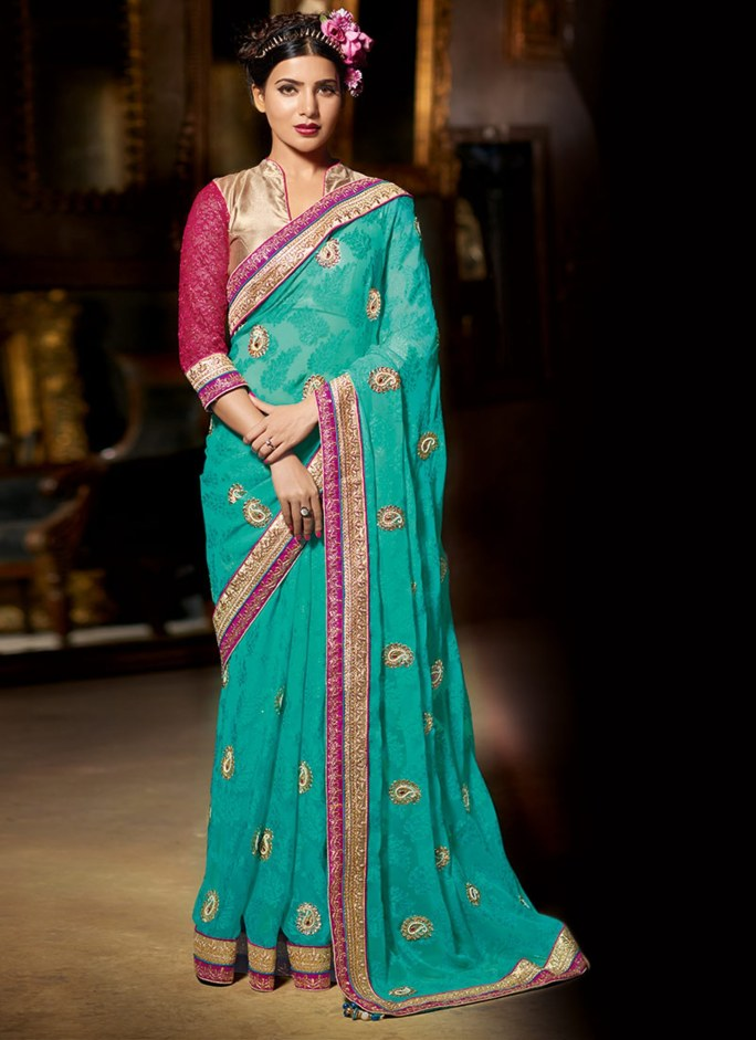 Samantha Ruth Prabhu Latest Saree Photoshoot Stills Gallery Photos Images