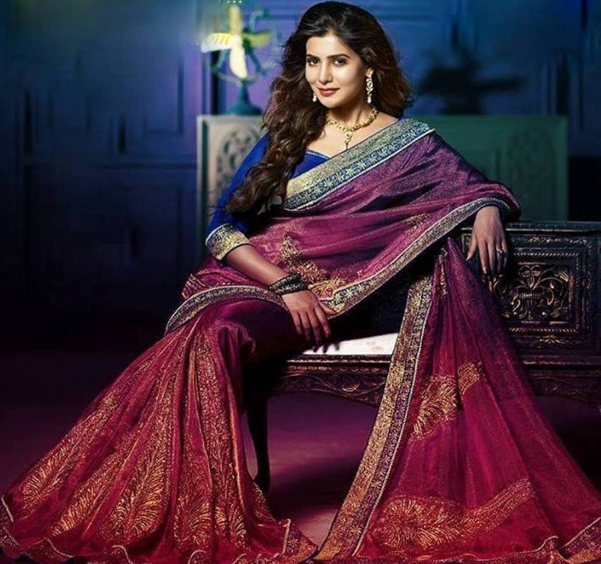 #SamanthaRuthPrabhu Hot saree photoshoot