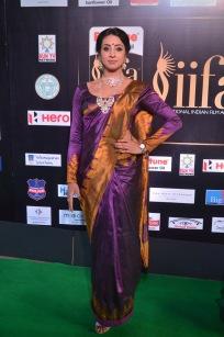 sanjjana hot in saree at iifa awards 2017 DSC_0580