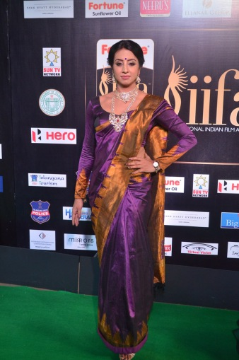 sanjjana hot in saree at iifa awards 2017 DSC_0582
