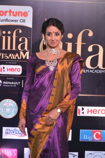 sanjjana hot in saree at iifa awards 2017 DSC_0606