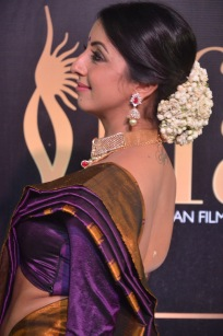 sanjjana hot in saree at iifa awards 2017 DSC_0628
