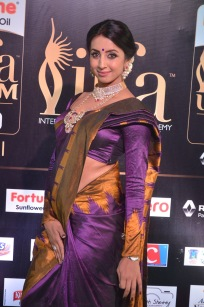 sanjjana hot in saree at iifa awards 2017 DSC_0630