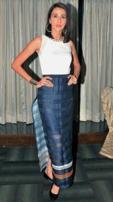 Alecia Raut (Super Model at the finale of 'ARF Mrs. India 2017' Beauty Pageant was held at Sahara Star, Mumbai.