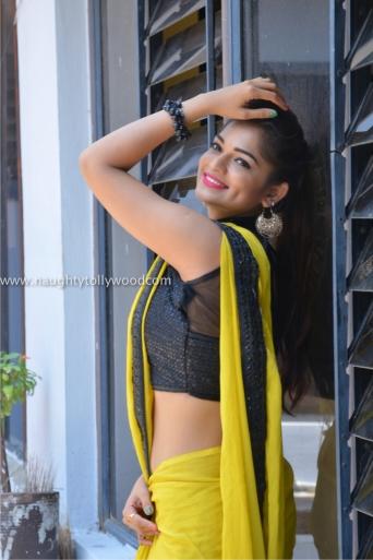 aswini hot in yellow saree 2017Aswini (101)_wm