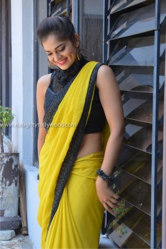 aswini hot in yellow saree 2017Aswini (133)_wm