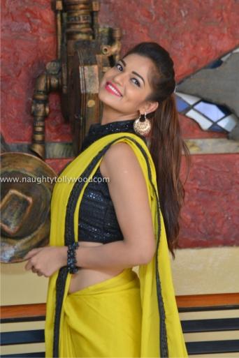 aswini hot in yellow saree 2017Aswini (146)_wm