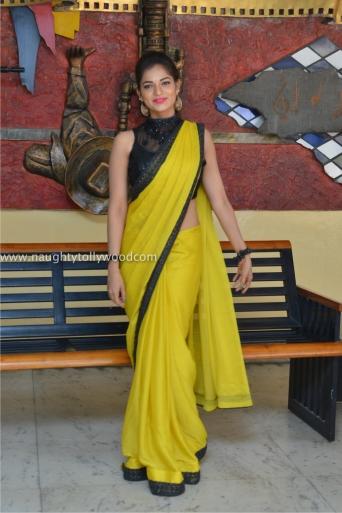 aswini hot in yellow saree 2017Aswini (148)_wm