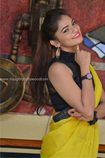 aswini hot in yellow saree 2017Aswini (152)_wm