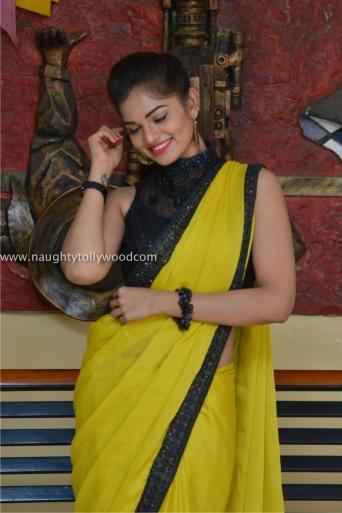 aswini hot in yellow saree 2017Aswini (183)_wm