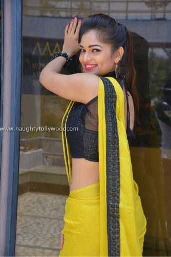 aswini hot in yellow saree 2017Aswini (52)_wm