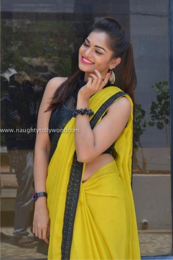 aswini hot in yellow saree 2017Aswini (70)_wm