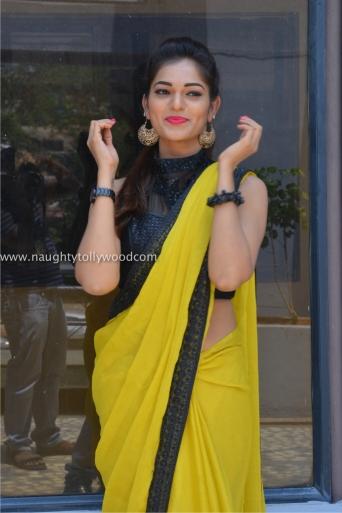 aswini hot in yellow saree 2017Aswini (86)_wm