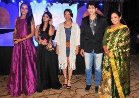 Jury Members Reshmi Ghosh, Jyotsna Chandola, Leena Mogre, Hiten Tejwani & Babita Verma at the finale of 'ARF Mrs. India 2017' Beauty Pageant was held at Sahara Star, Mumbai