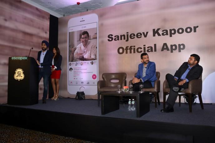 sanjiv kapoor mobile app launchIMG_1169