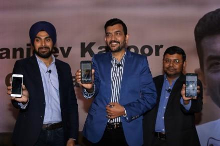 sanjiv kapoor mobile app launchIMG_1233