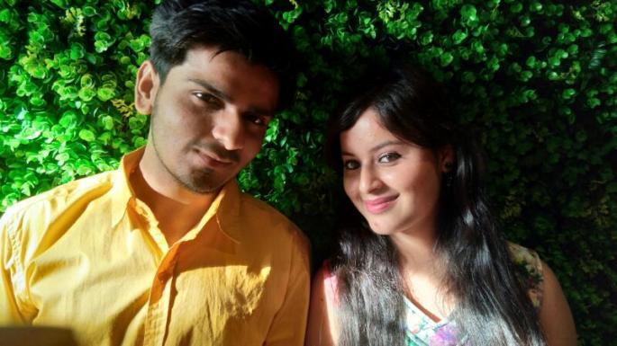 Vishal Parpagga with Aditi Charak at the Music Launch of film 'Saanjh - Rishto ki Saanjh' in Delhi